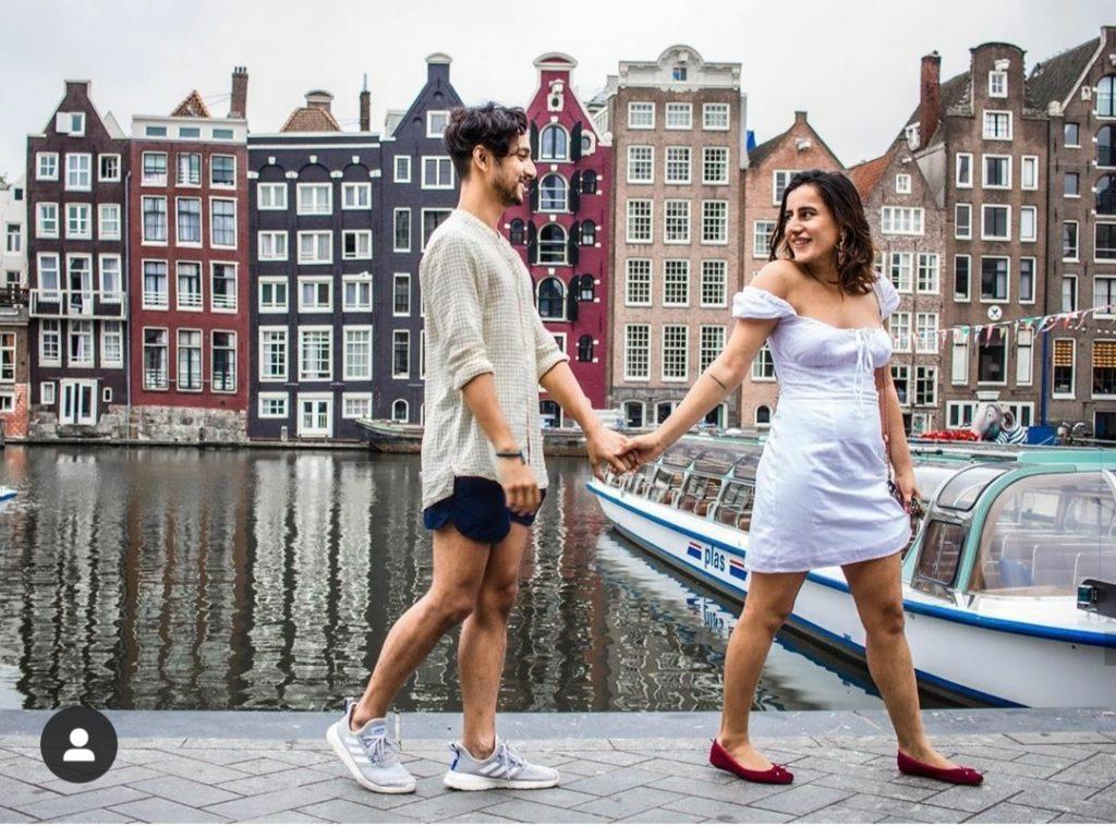 Saloni with her boyfriend rahul