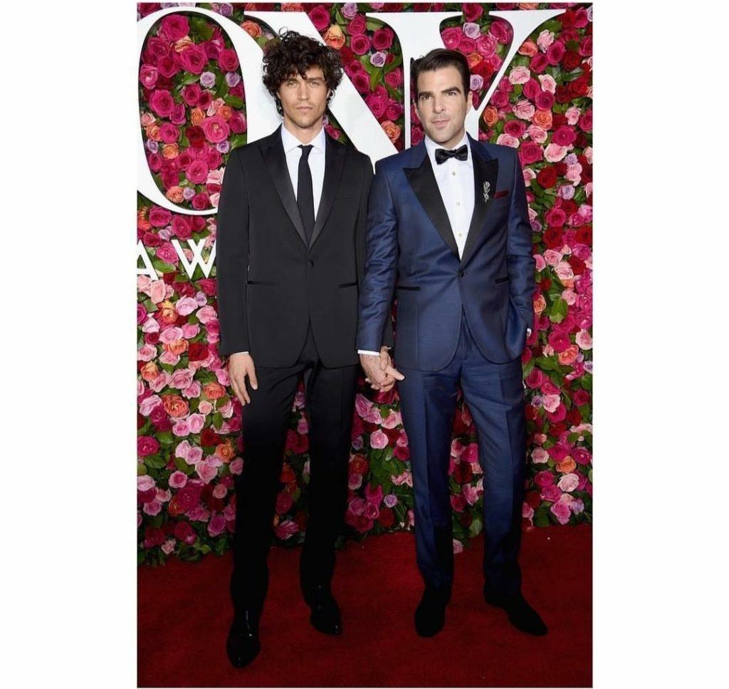 Miles McMillan with boyfriend Zachary Quinto