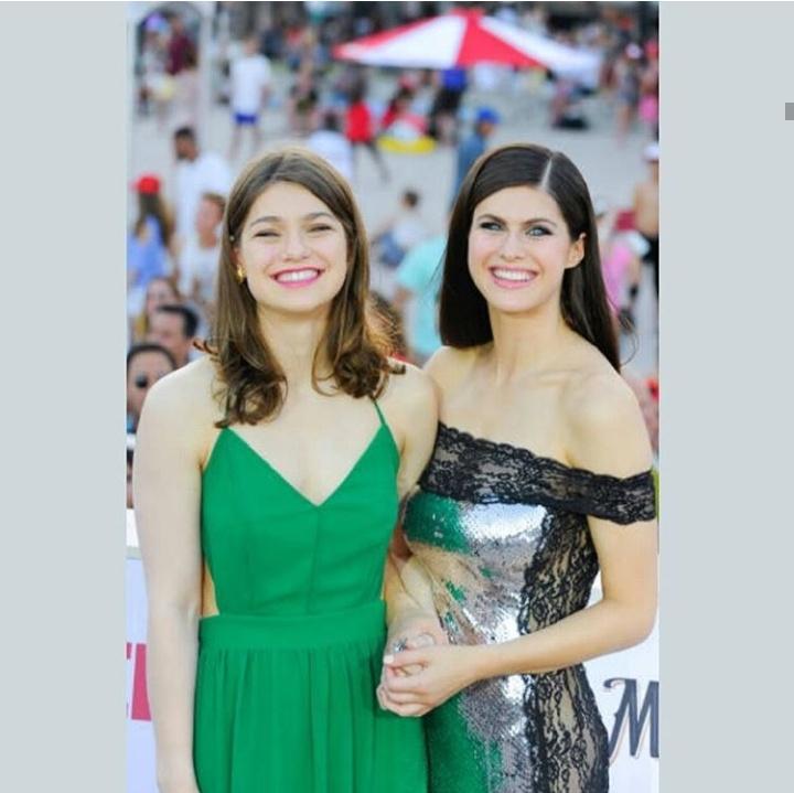 Catharine Daddario with Alexandra Daddario
