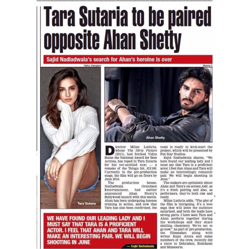 Ahan Shetty with Tara Sutaria